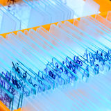 Glissière en verre de microscope images stock