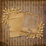 glissière grunge aliénée de carton vieille Photo libre de droits