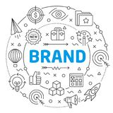 Glissière linéaire d'illustration de marque pour la présentation Images libres de droits