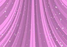 Glissière rose avec des étoiles Image stock
