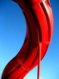 Glissière rouge Image libre de droits
