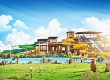 Glissières d'Aquapark Image libre de droits