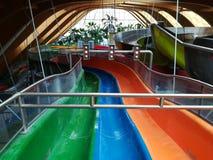 Glissières d'eau colorées Image libre de droits