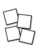 Glissières de blanc - 35mm Images libres de droits