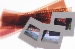 Glissières et négatifs Images stock