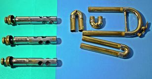 Glissières et valves Images stock