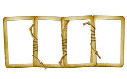 Glissières pour la photo avec le fond d'isolement par corde illustration stock