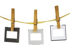 Glissières s'arrêtant sur une corde, l'espace de freey pour le pix Photos stock
