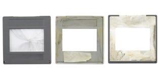 Glissières sales, cadres de tableau, Images stock