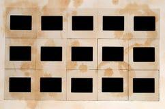 Glissières souillées photographie stock libre de droits