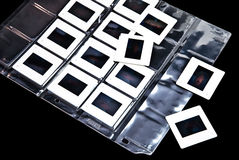 glissières de plastique de photo de film Photographie stock libre de droits