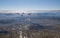 Glistening Blue Holes Seascape Stock Photos