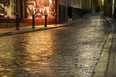 Glistening cobblestone in Cadiz, Spain Royalty Free Stock Photos