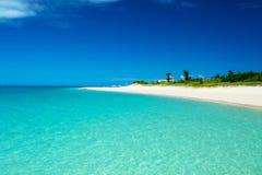 Glistening white Maehama Beach Royalty Free Stock Images
