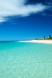 Glistening white Maehama Beach Stock Photography