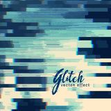 Glitch abstract background in blue shade. Vector Stock Images