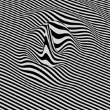 Glitch abstract background. Distortion effect, bug and error. Black and white design. Pattern with optical illusion. 3D vector illustration Royalty Free Illustration
