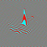 Glitch abstract background. Distortion effect, bug and error. Optical art. 3D Vector illustration Vector Illustration