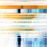 Glitch Abstract Background. With distortion effect, bug, error, random horizontal orange and blue color lines for design concepts, posters, wallpapers Stock Photos