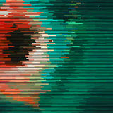 Glitch Abstract Background. With distortion effect, random horizontal orange and green color lines for design concepts, posters, wallpapers, presentations and Royalty Free Stock Photos