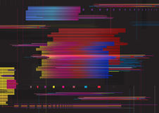Glitch abstract background. Glitched horizontal stripes. Colorful digital signal error. Glitch abstract background, Glitched horizontal stripes. Colorful Stock Images
