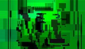 Glitch abstracte achtergrond, de fout van het Computerscherm royalty-vrije illustratie