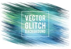 Glitch background, vector Stock Images