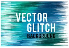 Glitch background, vector Royalty Free Stock Image