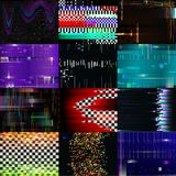 Glitch background vector glitchy noisy pixelated texture pattern tv broken computer screen with noise or abstract Stock Photo