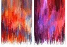 Glitch backgrounds, vector set Royalty Free Stock Images