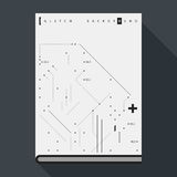 Glitch book cover/poster template with simple geometric design elements Stock Images