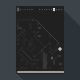 Glitch book cover/poster template with simple geometric design elements. Glitch book cover/poster design template with simple geometric design elements royalty free illustration