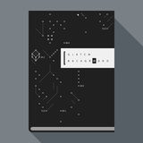 Glitch book cover/poster template with simple geometric design elements Royalty Free Stock Images