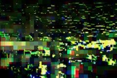 Glitch de digitale abstracte achtergrond van de artefactenvervorming, schade vector illustratie