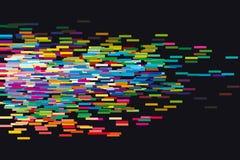 Glitch de vectorillustratie van de conceptenmeetkunde Royalty-vrije Stock Afbeelding