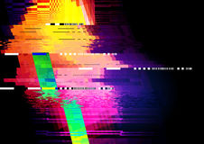 Glitch and distorted texture pattern Royalty Free Stock Images