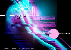 Glitch and distorted texture pattern Stock Photo