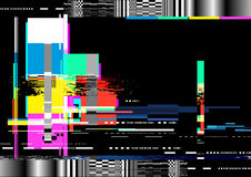 Glitch Distortion Background Stock Images