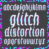 Glitch distortion font Stock Photo