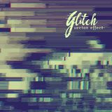 Glitch effect background with distortion Stock Photo