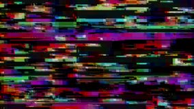 Glitch effect De fout van het computerscherm Foutenvideo Abstract Digitaal Pixellawaai TV-het signaal ontbreekt Glitch achtergron royalty-vrije illustratie