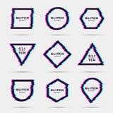 Glitch effect for frame. Frame with glitch effect. Border concept. Vector illustration vector illustration