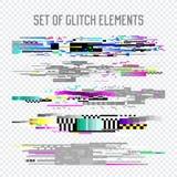 Glitch Effect Geplaatste Elementen TV-Vervorming, Digitaal Lawaai Abstract Ontwerp, Bederfsignaal, de illustratie van het het Sch royalty-vrije illustratie