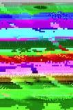 Glitch effect rassenbarrière 2 stock afbeelding
