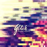 Glitch effect vector background Royalty Free Stock Photography