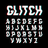 Glitch font Royalty Free Stock Images
