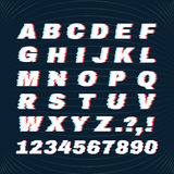 Glitch font with distortion effect. Deface Alphabet. Concept For Your Logo. Stock Photo