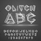 Glitch font Royalty Free Stock Photo
