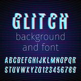 Glitch font Stock Photo