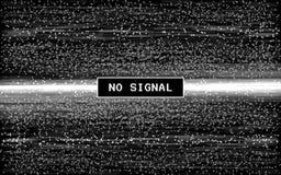 Glitch geen signaal Retro VHS-effect Pixel digitaal lawaai op zwarte achtergrond Oud videomalplaatje Het lawaai van Glitchedlijne royalty-vrije illustratie